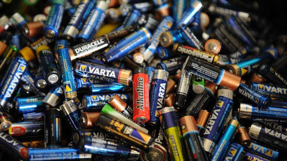 Использованные батарейки в Гессене